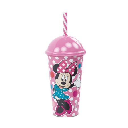 Copo Plástico Plasútil 500ml Shake Minnie