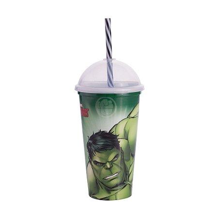 Copo Plástico Plasútil 500ml Shake Hulk