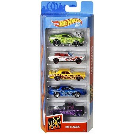 Carrinhos Mattel Hot Wheels Com 5 Carros Sortidos