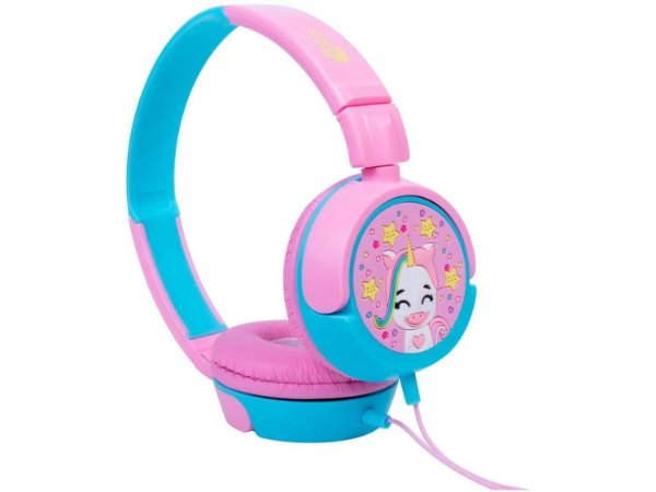 Headphone Infantil OEX Kids - HP304 Unicórnio Rosa