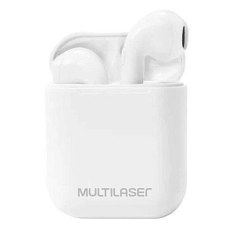 Fone de ouvido TWS Sem Fio Airbuds Branco PH326 Branco - Multilaser