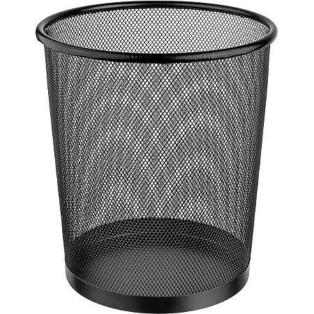 Cesto Para Lixo Metal Redonda 8,5L Preta