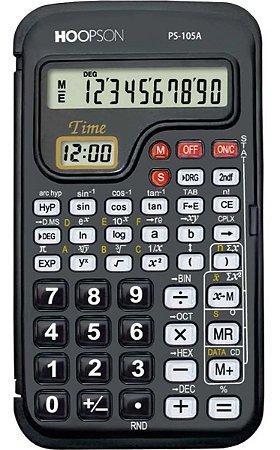Calculadora Cientifica 56 Funções 10 Dígitos Bateria Preta Hoopson