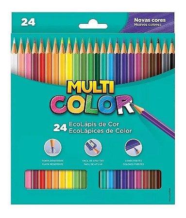 Lápis de Cor Multicolor 24 Cores
