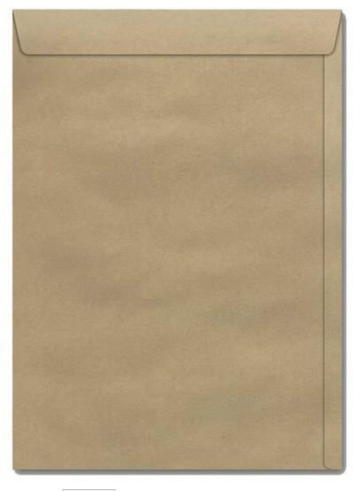 Envelope saco (natural) 176x250 80grs. Kn 25 - Cx250 Unid - Scrity