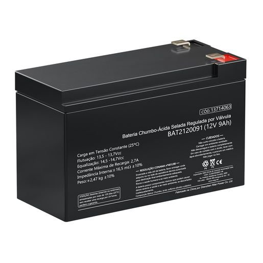 Bateria Selada 12v 7ah Weg Alarme Cerca Eletrônica Nobreak