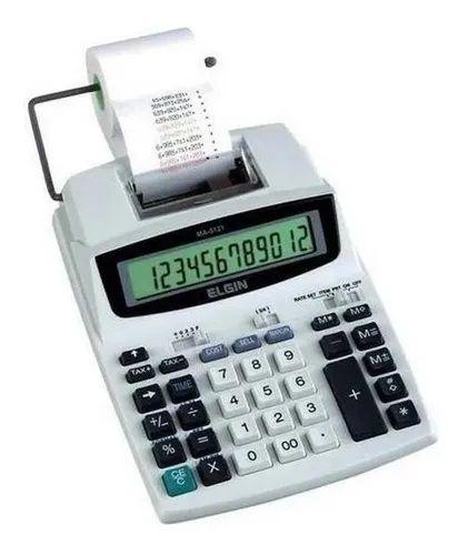 Calculadora De Mesa Elgin Ma-5121 Com Bobina 12 Dígitos