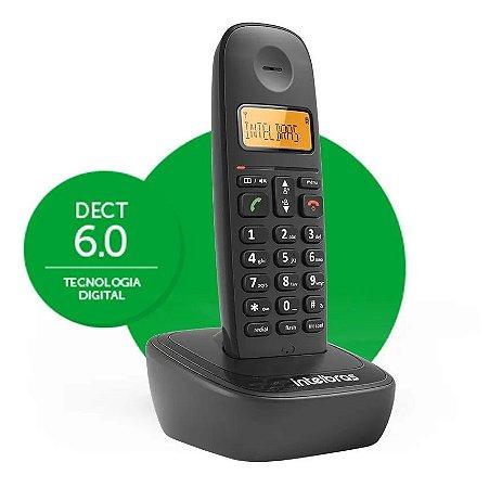 Telefone Sem Fio Residencial E Escritório Simples Ts 2510 Preto Display Luminoso Intelbras