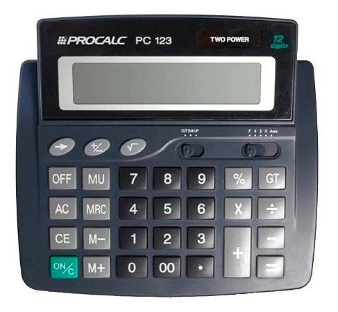 Calculadora de Mesa Procalc Pc123 12 Dígitos Solar
