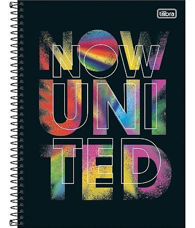 Caderno Espiral Univ. 1 Matéria Now United 80 Folhas