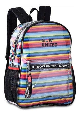 Mochila Now United Transparente Oficial Saco Internocolorido