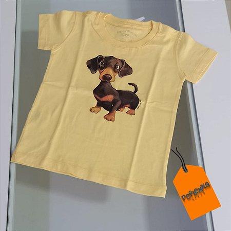 Camisetas infantis com estampas animais