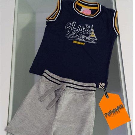 Conjunto infantil masc.  camiseta regata e short