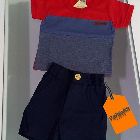 Conjunto infantil masculino camiseta e short