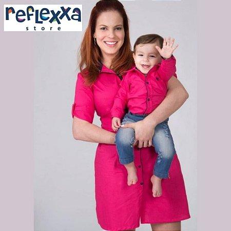 kit tal mãe tal filho PINK STAR (Chamise & Camisa)