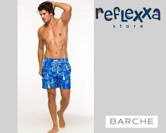 Swim Shorts Barche Navegar Azul tal pai, tal filho