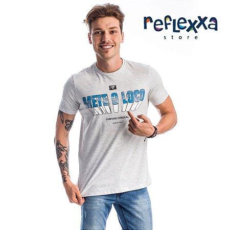 Camiseta TFLOW M Loco Confess Cinza