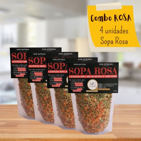 COMBO 4X SOPAS ROSAS