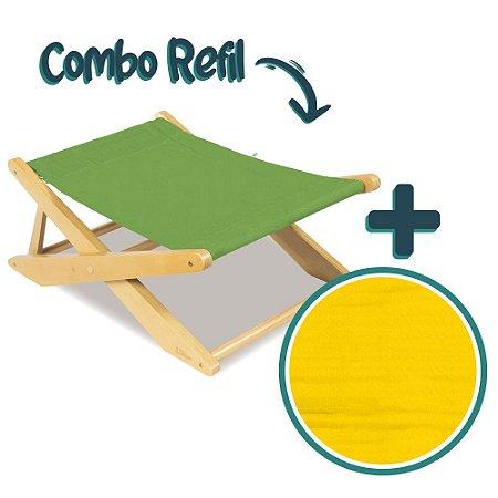 COMBO CADEIRA LAGUNA GRASS RELAX E REFIL SUN GLO