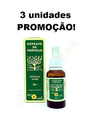 Extrato De Própolis Verde 11% 30ml - Apis Flora  Kit 3 unidades PROMOÇÃO
