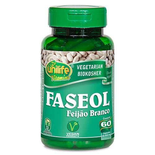 Feijão Branco Faseol 60 cápsulas 500mg Unilife