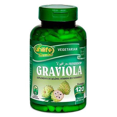 Graviola 120 cápsulas 500mg Unilife