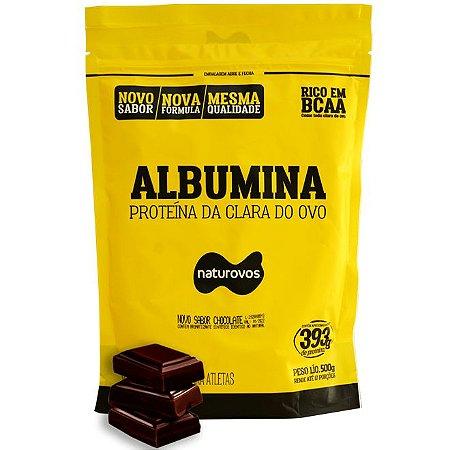Albumina - Naturovos 500g  - Sabor Chocolate