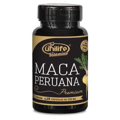 Maca Peruana 550mg 120cáps Unilife Premium