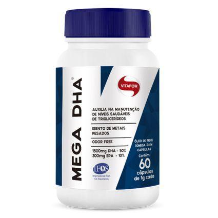 Mega DHA omega 3 - DHA alta concentração 60 cápsulas 1000mg Vitafor