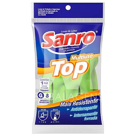 Luva Látex Sanro Top Verde