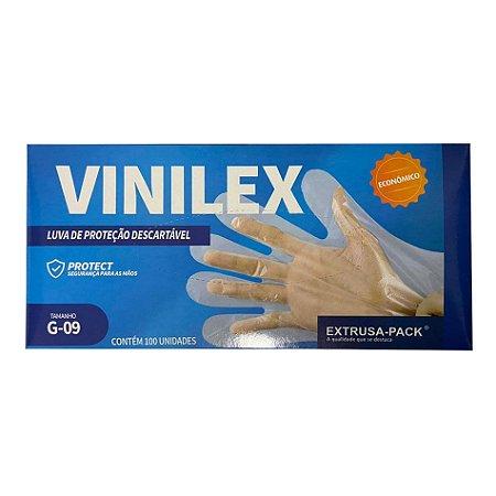 Luva Vinilex Com 100 Unidades
