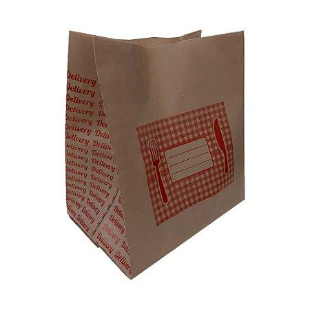 Saco Plastico Delivery G Biodegradavel 40x40 com 50