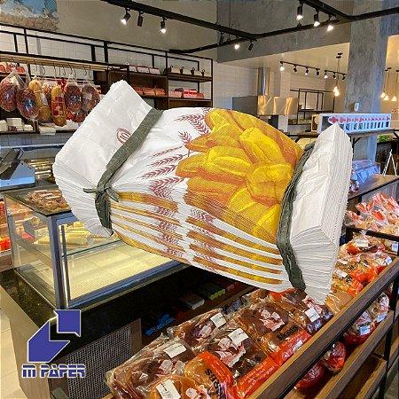 Saco Papel Kraft Branco 30g - 5 kg para 10 Pães C/ 500 Unidades