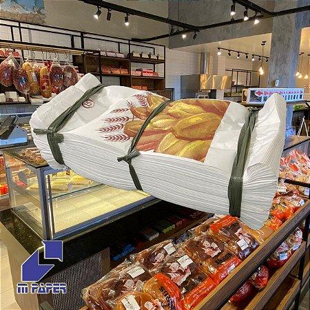 Saco Papel Kraft Branco 30g - 7 1/2 kg para 15 Pães C/ 500 Unidades