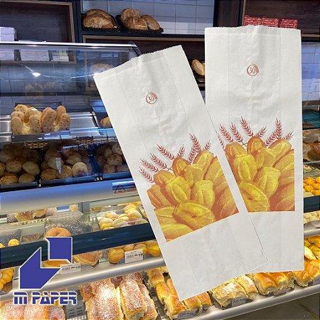 Saco Papel Kraft Branco 35g - 15 kg para 30 Pães C/ 500 Unidades