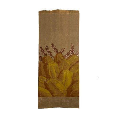 Saco Papel Kraft Natural 35g - 1 kg para 2 Pães C/ 500 Unidades