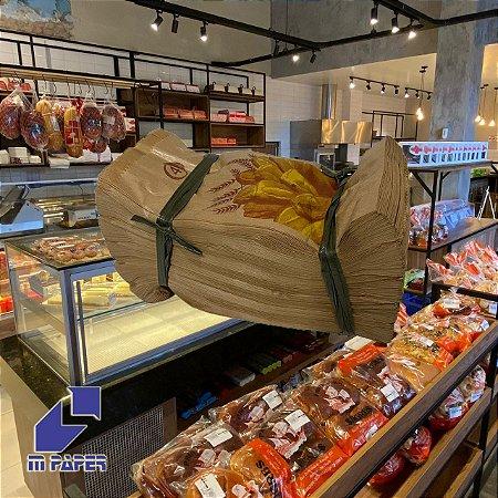 Saco Papel Kraft Natural 35g - 2 kg para 4 Pães C/ 500 Unidades