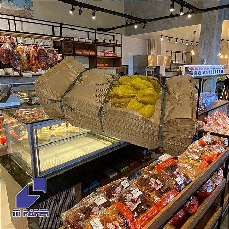 Saco Papel Kraft Natural 35g - 10 kg para 20 Pães C/ 500 Unidades