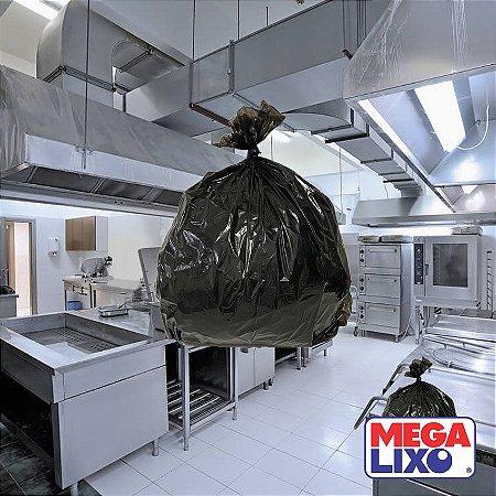 Saco de Lixo Reforçado Industrial 100 Litros Boca Larga Preto C/ 5Kg