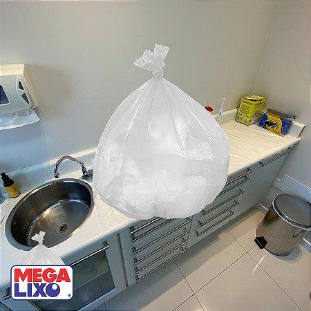 Saco de Lixo 30 Litros Branco C/ 50 Unidades