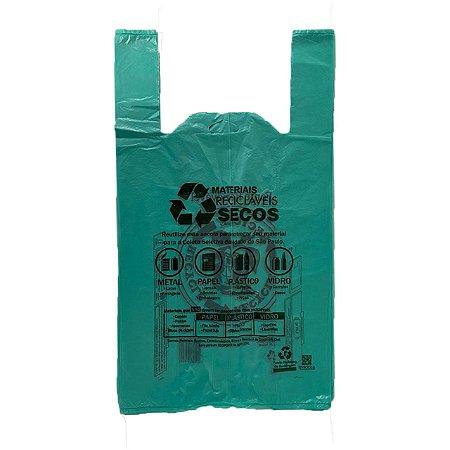 Sacola Plástica 30X45 Verde Padrão - C/ 500 Unidades