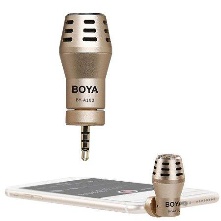Microfone Omnidirecional Para Iphone e smartphones BOYA BY-A100