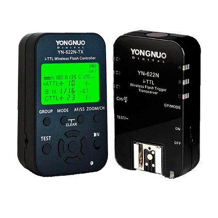 Radio Flash Automático Yongnuo YN-622N e TX Wireless I-TTL Para Nikon