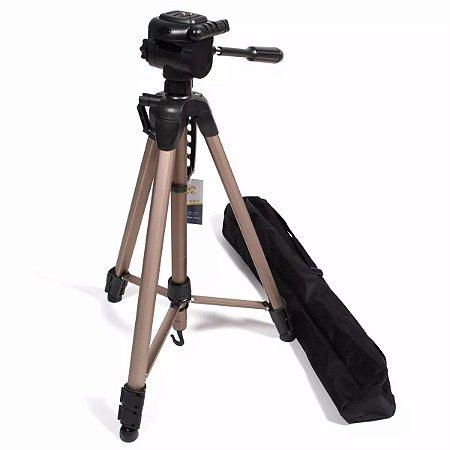 Tripe Weifeng Greika 1,66m WT 3770 para Câmera Fotográfica e Filmadora com bolsa