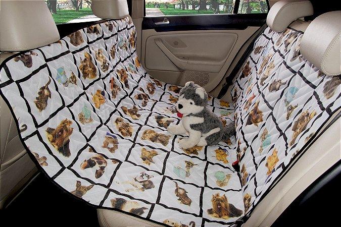 Protetor Pet Impermeável para Banco Traseiro de Carro
