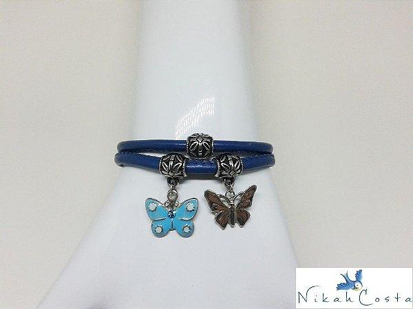 Pulseira Borboleta Azul