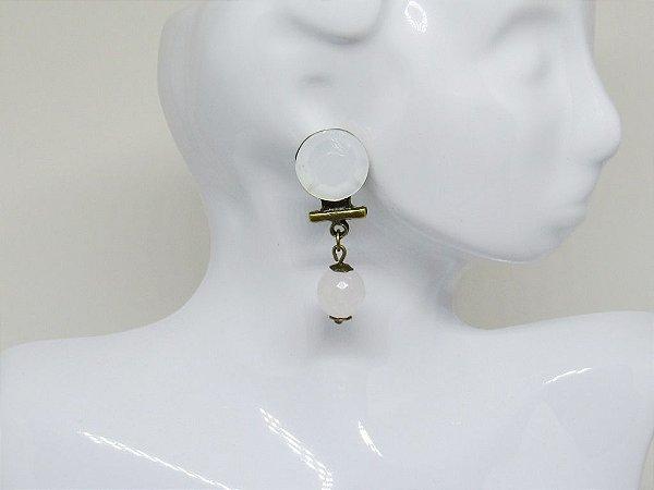 Brinco Branco Opal