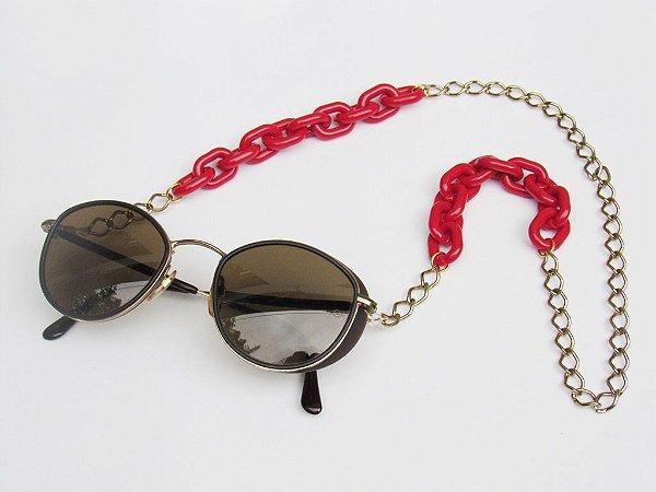Corrente Óculos Vermelho