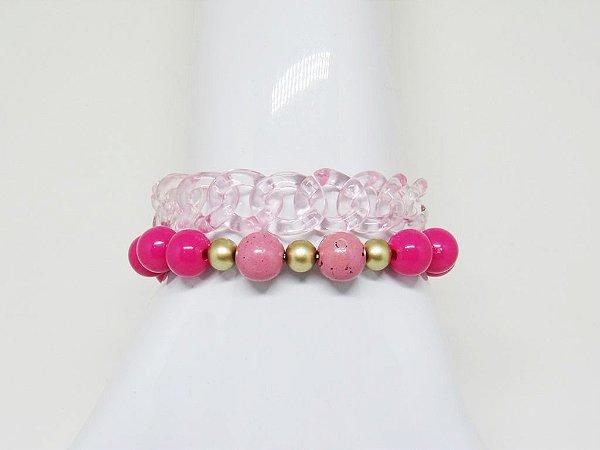 Mix de Pulseiras Pink
