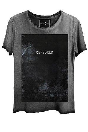 Camiseta  Estonada Gola Canoa Corte a Fio Censored